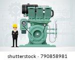 factory industrial machine... | Shutterstock .eps vector #790858981