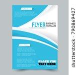 flyer template. annual report... | Shutterstock .eps vector #790869427