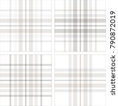 set of four plaid pattern...   Shutterstock .eps vector #790872019