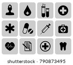 medical icons set. first aid... | Shutterstock .eps vector #790873495