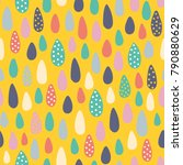 vector seamless pattern with... | Shutterstock .eps vector #790880629