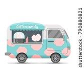 cotton candy street food... | Shutterstock .eps vector #790880821