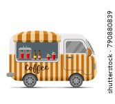 hot coffee street food caravan... | Shutterstock .eps vector #790880839