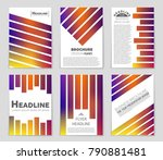 abstract vector layout... | Shutterstock .eps vector #790881481