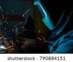 welder  craftsman  erecting... | Shutterstock . vector #790884151