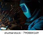 welder  craftsman  erecting... | Shutterstock . vector #790884169