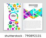 abstract vector layout... | Shutterstock .eps vector #790892131