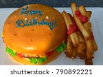 fun cake  actual happy birthday ... | Shutterstock . vector #790892221