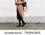 women's legs. woman wearing... | Shutterstock . vector #790892845