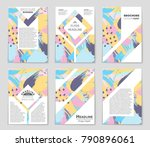 abstract vector layout... | Shutterstock .eps vector #790896061