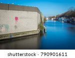 concrete and brick wall with... | Shutterstock . vector #790901611