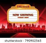 hollywood background theater... | Shutterstock .eps vector #790902565