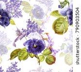 seamless watercolor pattern...   Shutterstock . vector #790903504
