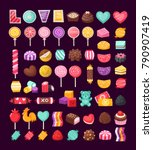 set of colorful valentine... | Shutterstock .eps vector #790907419
