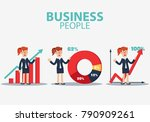 successful smiling business... | Shutterstock .eps vector #790909261