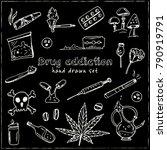 hand drawn doodle drug...   Shutterstock .eps vector #790919791