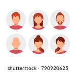 characters avatars in cartoon... | Shutterstock .eps vector #790920625