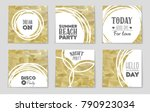 abstract vector layout... | Shutterstock .eps vector #790923034