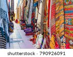 moroccan carpets with bright... | Shutterstock . vector #790926091