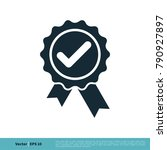 check mark award stamp icon... | Shutterstock .eps vector #790927897