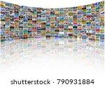big multimedia video and image... | Shutterstock . vector #790931884