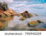 cliffs  sharp stones and rocks... | Shutterstock . vector #790940209