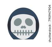 horror emojis   grim reaper  | Shutterstock .eps vector #790947904