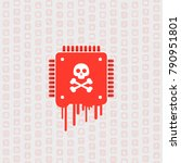 processor affected by meltdown  ... | Shutterstock .eps vector #790951801