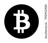 bitcoin circle icon. black ...   Shutterstock .eps vector #790952989