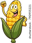 happy cartoon corn. vector clip ... | Shutterstock .eps vector #790955221