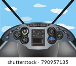 plane instrument airplane... | Shutterstock .eps vector #790957135