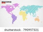 abstract colorful world map... | Shutterstock .eps vector #790957321