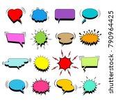 comic colorful blank speech... | Shutterstock .eps vector #790964425