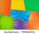 mock up of colorful comic... | Shutterstock .eps vector #790964431
