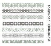 set of seamless decorative...   Shutterstock .eps vector #790965901