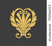 vintage baroque ornament. retro ... | Shutterstock .eps vector #790966015