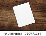 blank portrait mock up paper.... | Shutterstock . vector #790971169