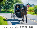 amish pennsylvania  usa  ... | Shutterstock . vector #790971784
