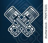 motor pistons vector... | Shutterstock .eps vector #790973101