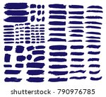 collection of hand drawn dark... | Shutterstock .eps vector #790976785