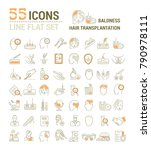 vector graphic set. icons in... | Shutterstock .eps vector #790978111