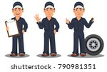 professional auto mechanic in... | Shutterstock .eps vector #790981351