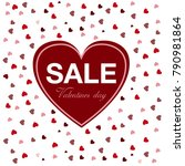 sale  valentine's day  heart | Shutterstock .eps vector #790981864