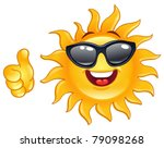 smiling sun showing thumb up | Shutterstock .eps vector #79098268
