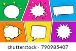 retro comic empty speech... | Shutterstock .eps vector #790985407