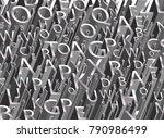 3d letters   vector brilliant...   Shutterstock .eps vector #790986499