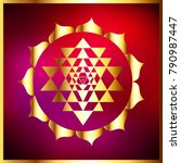 sacred indian geometry mystical ... | Shutterstock .eps vector #790987447