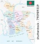 bangladesch administrative and... | Shutterstock .eps vector #790989319