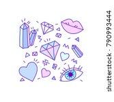 vector set collection design... | Shutterstock .eps vector #790993444