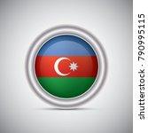 azerbaijan flag button style....